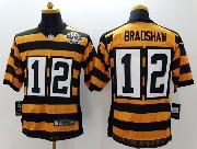 Mens Nfl Pittsburgh Steelers #12 Bradshaw Yellow&black 80th Elite Jersey