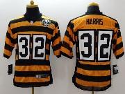 Mens Nfl Pittsburgh Steelers #32 Harris Yellow&black 80th Elite Jersey