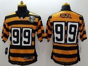 Mens Nfl Pittsburgh Steelers #99 Keisel Yellow&black 80th Elite Jersey