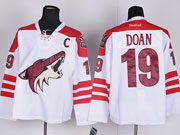 Mens reebok nhl arizona coyotes #19 doan white c patch Jersey