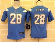 Youth Nfl San Diego Chargers #28 Goroon Light Blue Game Jersey
