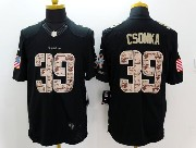 Mens Nfl Miami Dolphins #39 Csonka Black Salute To Service Jersey