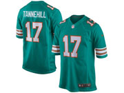 Mens Nfl Miami Dolphins #17 Tannehill Green Game Throwback Jersey