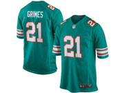 Mens Nfl Miami Dolphins #21 Grimes Green (2015 New) Elite Jersey