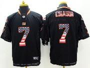 Mens Nfl Cincinnati Bengals #7 Esiason Black (2014 Usa Flag Fashion) Elite Jersey