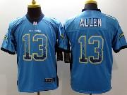 mens nfl san diego chargers #13 allen light blue drift fashion elite jersey