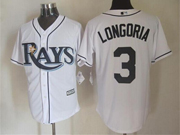 Mens Mlb Tampa Bay Rays #3 Longoria White Cool Base Jersey