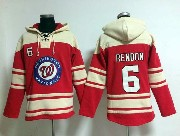 Mens Mlb Washington Nationals #6 Rendon Red Hoodie Jersey