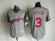 Mens Mlb Washington Nationals #3 Taylor Gray Jersey