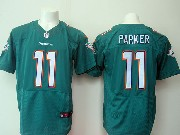 Mens Nfl Miami Dolphins #11 Parker Green Elite Jersey