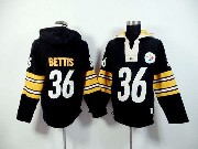 mens nfl Pittsburgh Steelers #36 Jerome Bettis black (2015 team) hoodie jersey