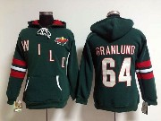 Women Nhl Minnesota Wild #64 Granlund Green Hoodie Jersey