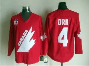 Mens Ccm Nhl Team Canada #4 0rr Red Throwbacks Jersey