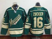 Mens Reebok Nhl Minnesota Wild #16 Zucker Green Jersey