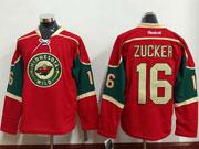 Mens Reebok Nhl Minnesota Wild #16 Zucker Red Jersey