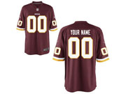 Mens Womens Youth Nfl Washington Redskins (custom Made) Red Game Jersey