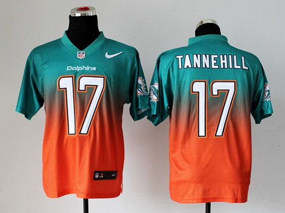 Mens Nfl Miami Dolphins #17 Tannehill Green∨ange Drift Fashion Ii Elite Jersey
