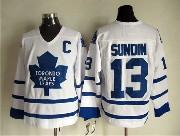Mens Nhl Toronto Maple Leafs #13 Sundin Full White Throwbacks Jersey