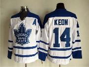 Mens Nhl Toronto Maple Leafs #14 Keon White Throwbacks 3rd Jersey