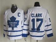 Mens Nhl Toronto Maple Leafs #17 Clark Full White Throwbacks Jersey