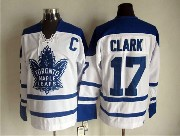 Mens Nhl Toronto Maple Leafs #17 Clark White Throwbacks 3rd Jersey