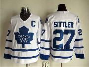 Mens Nhl Toronto Maple Leafs #27 Sittler Full White Throwbacks Jersey