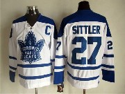 Mens Nhl Toronto Maple Leafs #27 Sittler White Throwbacks 3rd Jersey