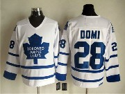 Mens Nhl Toronto Maple Leafs #28 Domi Full White Throwbacks Jersey