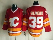Mens Ccm Nhl Calgary Flames #39 Gilmour Red Throwbacks Jersey