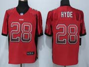 Women  Nfl San Francisco 49ers #28 Hyde Drift Fashion Red Eliete Jersey