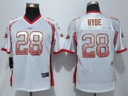 Women  New   Nfl San Francisco 49ers #28 Hyde Drift Fashion White Elite Jersey