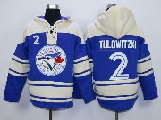 Youth Mlb Toronto Blue Jays #2 Tulowitzki Blue Hoodie Jersey