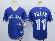 Youth Mlb Toronto Blue Jays #11 Pillar Blue (2012 Majestic) Jersey
