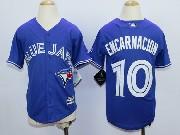 Youth Mlb Toronto Blue Jays #10 Encarnacion Blue (2012 Majestic) Jersey