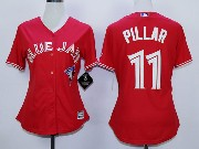 Women Mlb Toronto Blue Jays #11 Pillar Red (2012 Majestic) Jersey