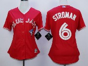 Women Mlb Toronto Blue Jays #6 Stroman Red (2012 Majestic) Jersey