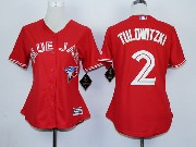 Women Mlb Toronto Blue Jays #2 Tulowitzki Red (2012 Majestic) Jersey