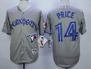 Mens Mlb Toronto Blue Jays #14 Price Gray Jersey