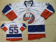 Mens Reebok Nhl New York Islanders #55 Boychuk White Jersey