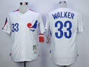 Mens Mlb Montreal Expos #33 Walker White Throwbacks Jersey