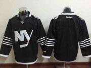 Mens reebok nhl new york islanders (blank) black Jersey