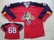 Mens reebok nhl florida panthers #68 jagr red Jersey