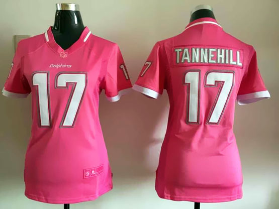 Women  Nfl Miami Dolphins #17 Tannehill Pink Bubble Gum Jersey