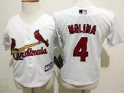 Kids Mlb St.louis Cardinals #4 Molina White Jersey