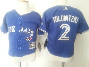 Kids Mlb Toronto Blue Jays #2 Tulowitzki Blue Jersey