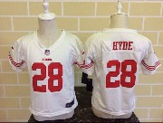 Kids Nfl San Francisco 49ers #28 Hyde White Jersey