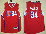 Mens Nba Los Angeles Clippers #34 Paul Pierce Red 2016 (white Number) Jersey