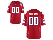 Mens Womens Youth Nfl New England Patriots (custom Made) Red Game Jersey