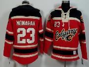 Mens Nhl Calgary Flames #23 Monahan Red (team Hoodie) Jersey