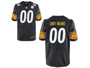 Mens Nfl Pittsburgh Steelers Custom Made Black Elite Jersey